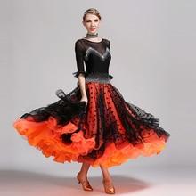 black sequins ballroom dance competition dresses dance ballroom waltz dresses standard dance dress fringe foxtrot flamenco