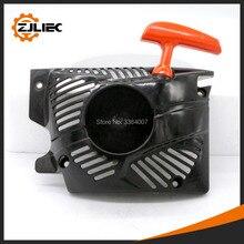 1 шт. 58cc легкий стартер черный цвет подходит для цепной пилы 45cc 52cc 58cc цепная пила 4500 5200 5800 запасные части замена легко запустить