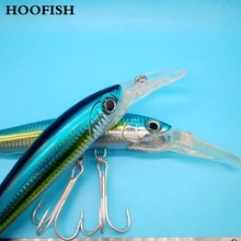 HOOFISH 2pcs/lot minnow lure fishing 80g/22cm 3D Eyes Artificial bait Deep-sea tackle