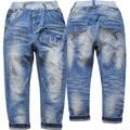 4018 luz azul de mezclilla suave pantalones vaqueros chicos pantalones pantalón casual primavera otoño niños de la manera pantalones vaqueros chico nuevo agradable