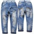 4018 suave luz azul denim jeans meninos calças casuais crianças primavera outono moda calças de brim menino novo agradável