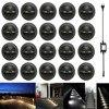 20 Pcs Nero Mezza Luna 35mm Deck LED Passo Scale Recinzione Zoccolo Luci A Bassa Tensione DC12V + 30 W trasformatore