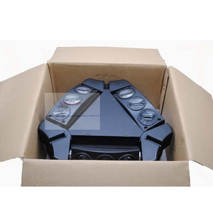 Image 5 - ขายร้อน! 1Pcs Moving Head Light มินิ LED Spider 9X3W RGB สีลำแสง 12/43 DMX Channel Fast การจัดส่ง