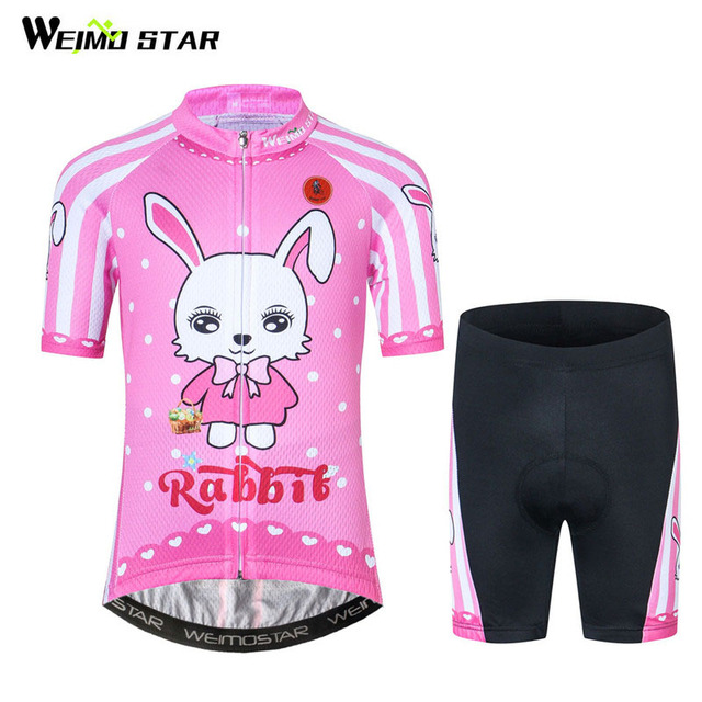 36db16bc6 Weimostar Cute Kids Cycling Clothing Short Sleeve Cycling Jersey Set  Children Road Bicycle Jersey Boys Girls