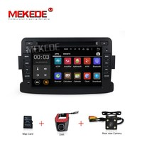Quad Core Pure Android 7 1 Central Cassette DVD GPS Player For Dacia Renault Duster Logan