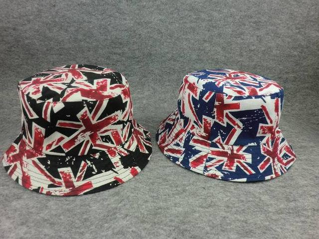 Summer style UK Flag Bucket Hat two side wear Fisherman Cap Snapback Cap  Sun Protect Gorras Men Women JD-60 c5820636605