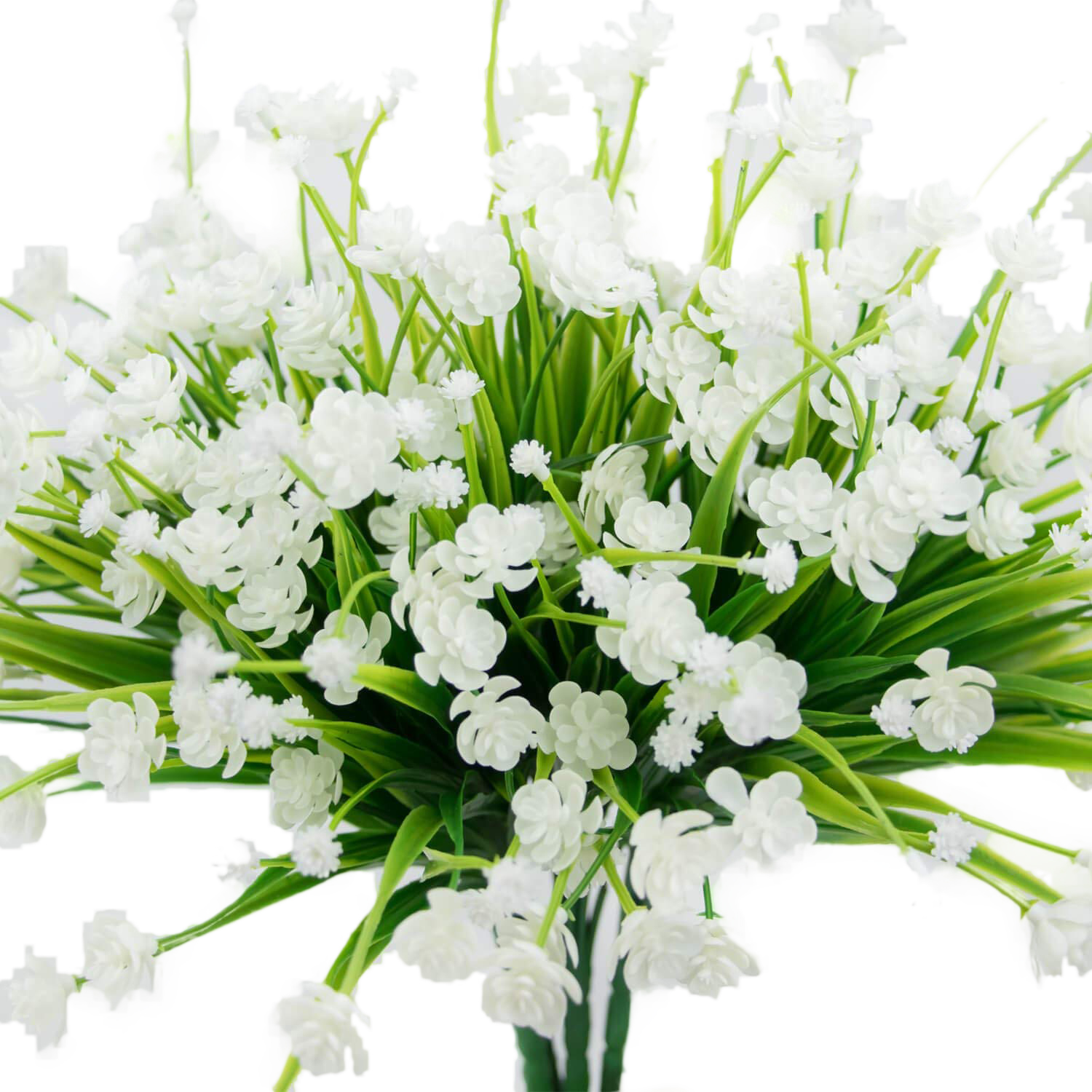 4 Pcs Artificial Flowers Fake Outdoor Faux Plants Greenery Daffodils