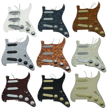 KAISH Various Custom Loaded Strat Pickguard Prewired ST SSS Pickguard with Ceramic Pickups Fits For Fender Loaded Pickguard gold prewired 1 ply 11 holes sss mirror pickguard 3 single coil pickups with magnets for stratocaster guitar