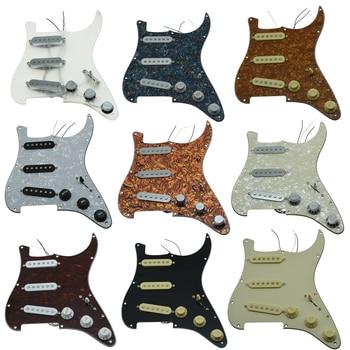 1ply cream yellow alnico prewired loaded pickguard KAISH Various Custom Loaded Strat Pickguard Prewired ST SSS Pickguard with Ceramic Pickups Fits For Fender Loaded Pickguard