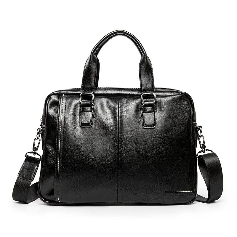 2019 New Luxury Leather Business Men's Briefcase Brand Male Fashion Shoulder Bag Men Messenger Bag Boy Casual Tote Computer Bag