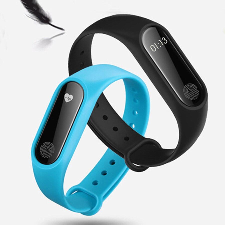 Degli uomini di marca Impermeabile IP67 M2 Orologio Delle Donne Cinturini Fitness Heart Rate Monitor di Pressione Sanguigna Pedometro Bluetooth Smart Wristban