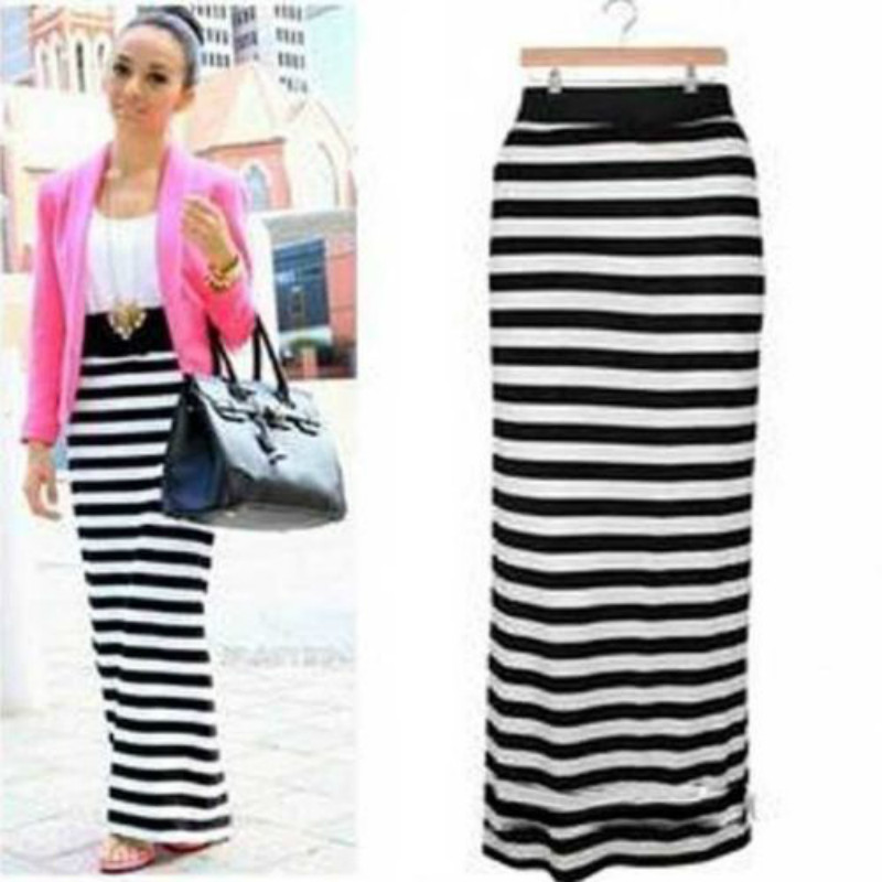 Stripes Long Skirt Promotion-Shop for Promotional Stripes Long ...