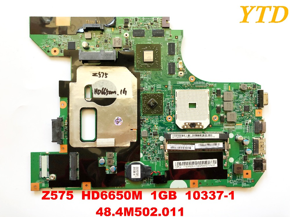 Original For Lenovo Z575  Laptop Motherboard  Z575  HD6650M  1GB  10337-1  48.4M502.011  Tested Good Free Shipping