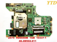 Original for Lenovo Z575  laptop motherboard  Z575  HD6650M  1GB  10337 1  48.4M502.011  tested good free shipping