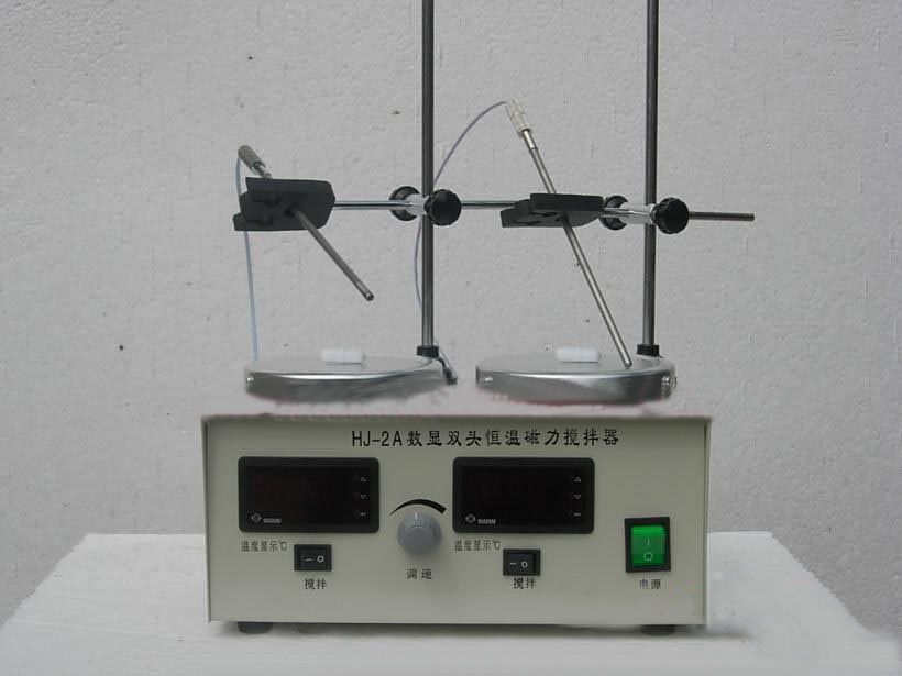 HJ-2A Laboratory Magnetic Stirrer Double Plate ,Heating,Temperature control Digital display,2L Volume, 0~2400RPM ! a force presents volume 2