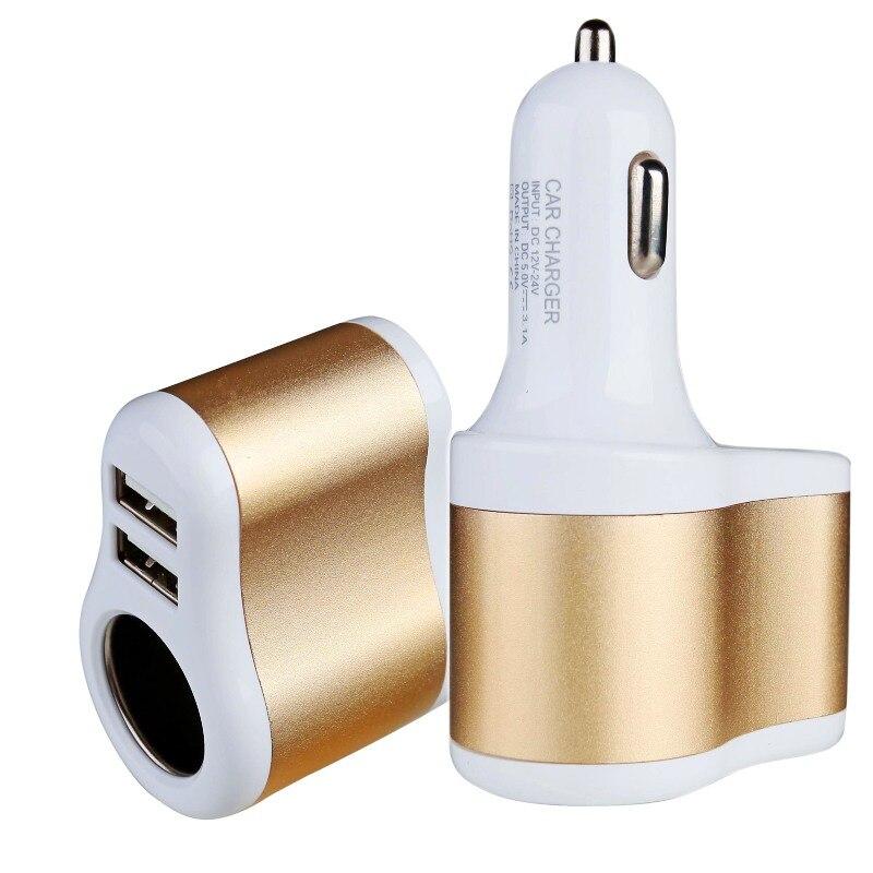 Универсальное автомобильное зарядное устройство 2 USB для HTC S620 Droid ENS HD7S прикуривателя гнездо адаптера для Peugeot sxc 5008 Оникс 206