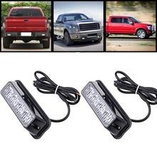 High Quality 4 LED Car Emergency Beacon Light Bar 12 Flashing Mode 4W 12V led Strobe light for Universal fit Hazard Truck
