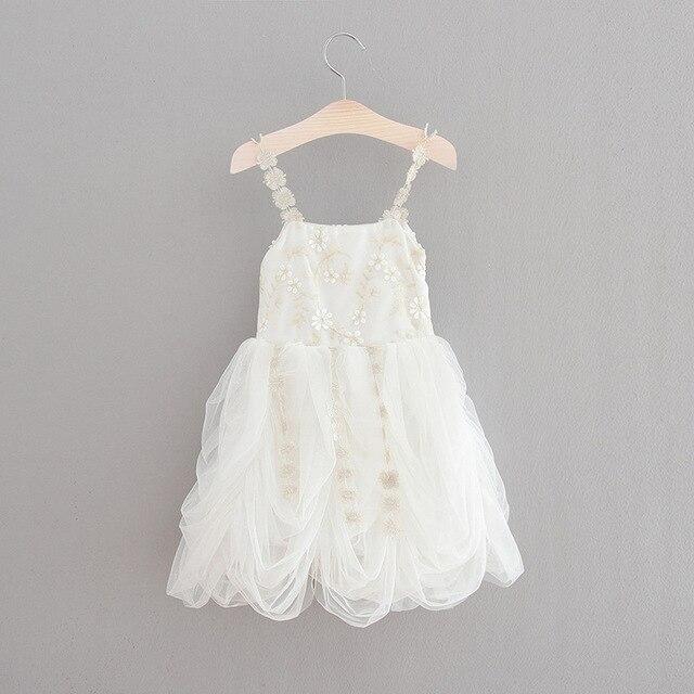 bebé la de Tulle niños adornado del de bordado liga de del flores las Princesa muchachas las Vestido de colmenas Summer blanco las color BYpgfwq6wy