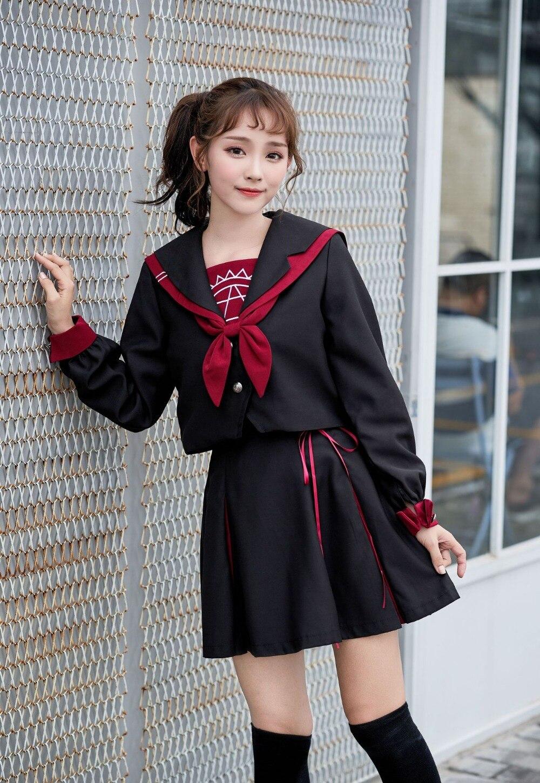 Uniforme d'école style japonais coréen carnaval volwassen kostuums uniforme marin corea cosplay manga seifuku coreia