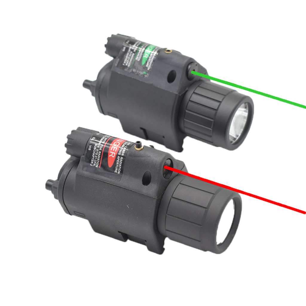 Compact Flashlight and Laser Sight Combo 2 In 1 Function Laser Sight Scope with Mount Tactical Red Green Laser Sight|Lasers| |  - title=