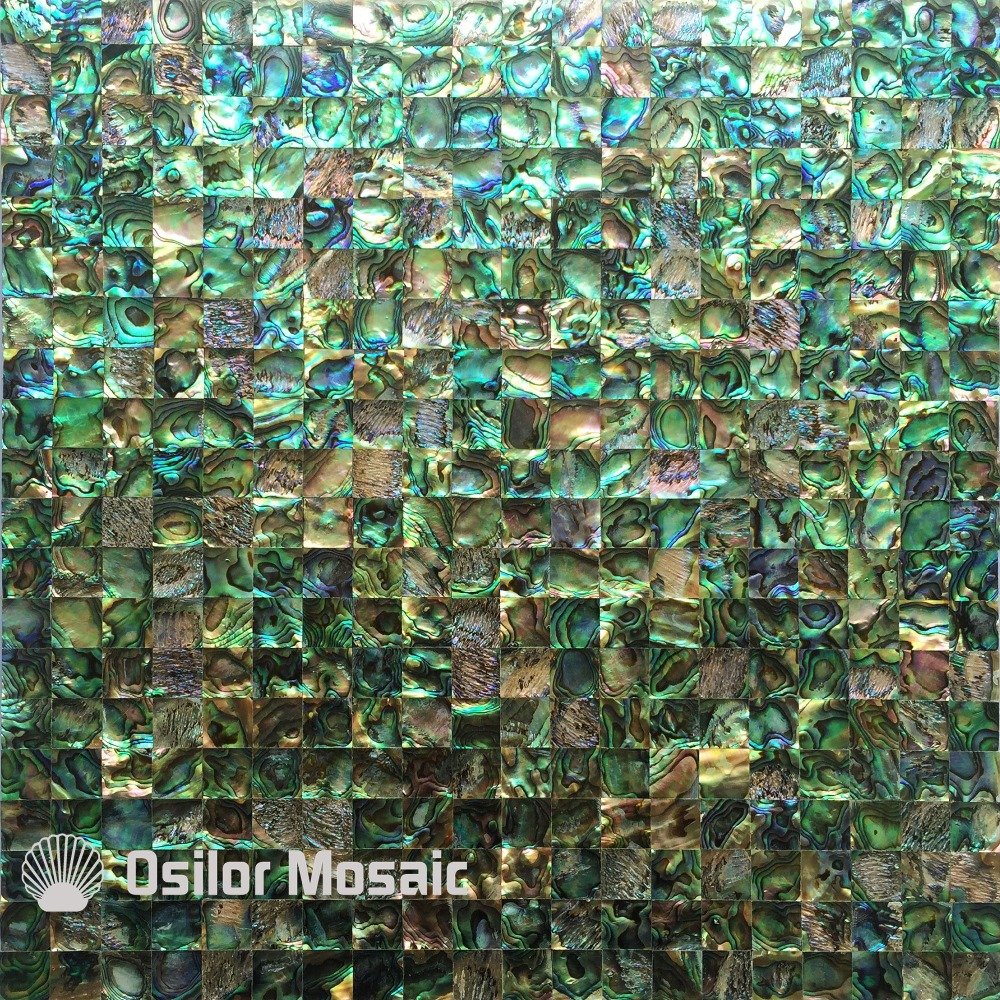 Free shipping 100% sea shell abalone paua shell seamless mother of pearl mosaic tile for interior house decoration wall tile free shipping k5 metal shell