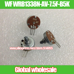 3 uds. De potenciómetro WF WRB1338N-AV-7.5F-B5K B502 B5K, 60 grados, Media manija, número 11