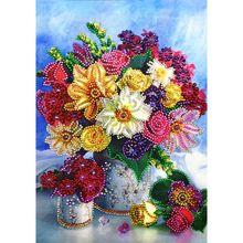 Красивые цветы 5D алмазная живопись особой формы вышивка рукоделие горный хрусталь кристалл вышивка крестиком Набор сделай сам