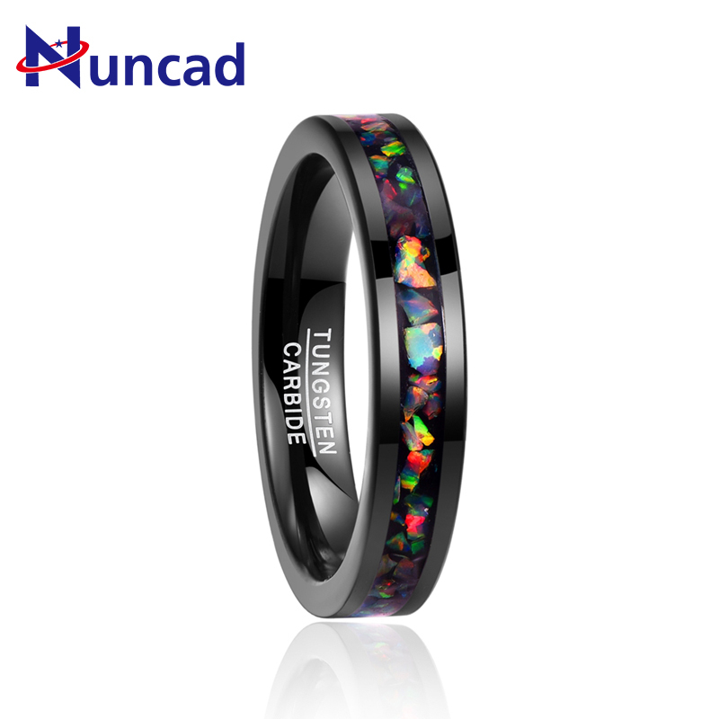 2018 new chic vintage Personality men' s rings inlaid opal black tungsten steel ring size 7-12 Jewelry Gift never fade simple retro fashionable personality stainless steel couple rings silver black us size 9 7