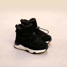 Удобные детские осень-зима модная детская Снегоступы для Обувь для девочек Обувь для мальчиков утепленные сапоги Повседневное ребенок Обувь для младенцев для детей мальчик/девочка