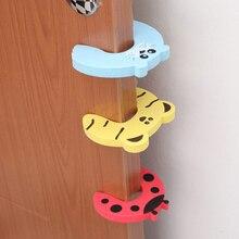 Милые детские заглушки с рисунками животных из мультфильмов для детей, 5 шт., заглушки для дверей, защита для пальцев