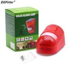 Alarma de seguridad sirena de energía Solar con estroboscópico IP65 a prueba de agua 110dB sirena ruidosa Sensor de movimiento PIR incorporado para patio de casa al aire libre