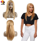 Peruvian Wigs 150% Density Lace Front Human Hair Wigs Black Women #27 Human Hair Honey Blonde Straight Lace Front Wigs Remy Hair