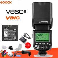Godox Винг V860II V860II F 2,4 г GN60 E TTL HSS 1/8000 s камера с литий ионным аккумулятором Вспышка Speedlite для Fuji DSLR + подарочный комплект
