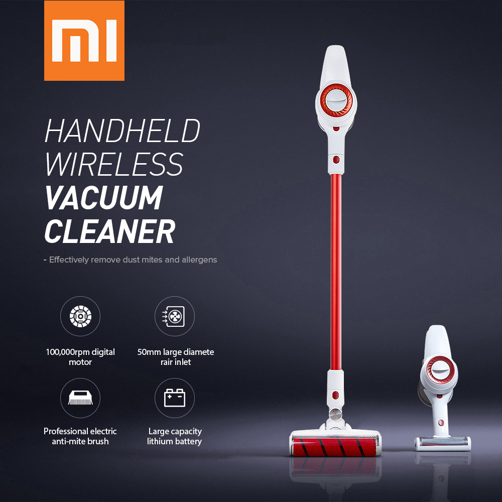Xiaomi Handheld Wireless Vacuum Cleaner JIMMY JV51 Strong Suction Vacuum Dust Cleaner 100000rpm Low Noise From Xiaomi Youpin New
