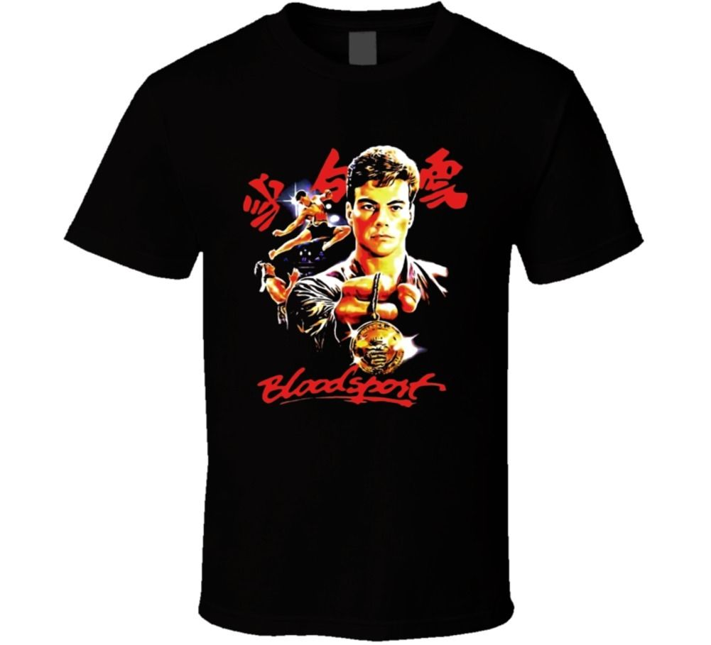 Bloodsport Jean Claude Van Damme T Shirt 2018 New Arrival MenS Fashion top tee