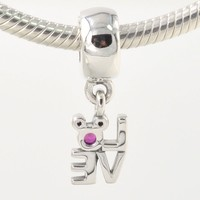 Fits All Bracelets LOVE Mickey Silver Charms New Original 100 925 Sterling Silver Beads DIY