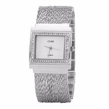 WA188 CUSSI Rectangle Women Watches Luxury Rhinestone Ladies Bracelet Fashion Quartz Wristwatches relogio feminino