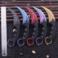 SHNAPIGN CS GO Hunting Fixed Knife Karambit Tactical Combat Survival Neck Claw Knives Utility Camping Outdoor