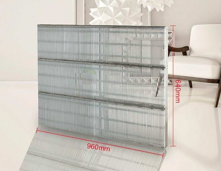 cortina transparente levou tela alto brilho uso