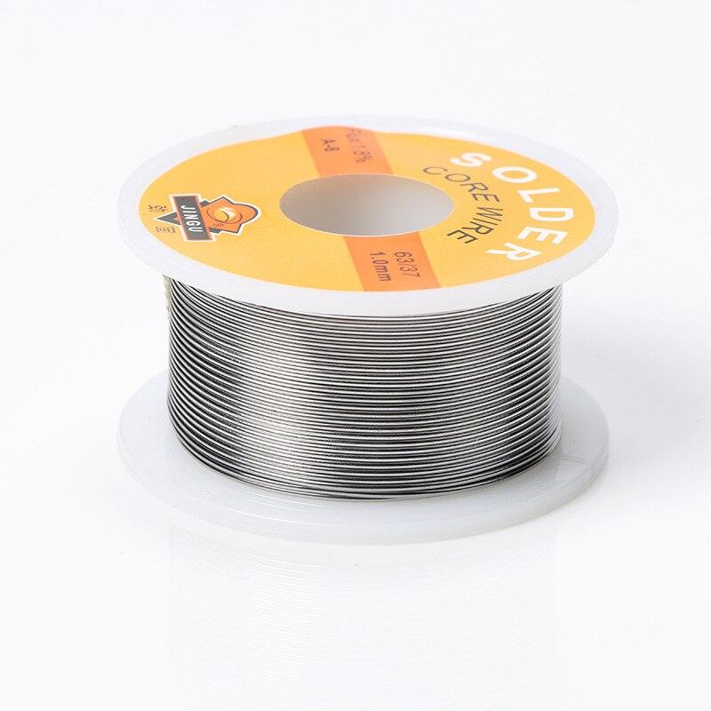 NEW Welding Iron Wire Reel 50g FLUX 2.0% 1mm/0.8mm 63/37 45FT Tin Lead Line Rosin Core Flux Solder Soldering  Wholesale