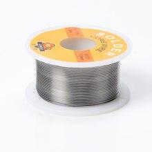 Novo ferro de solda fio carretel 50g fluxo 2.0% 1mm/0.8mm 63/37 45ft estanho linha chumbo rosin núcleo fluxo solda solda atacado