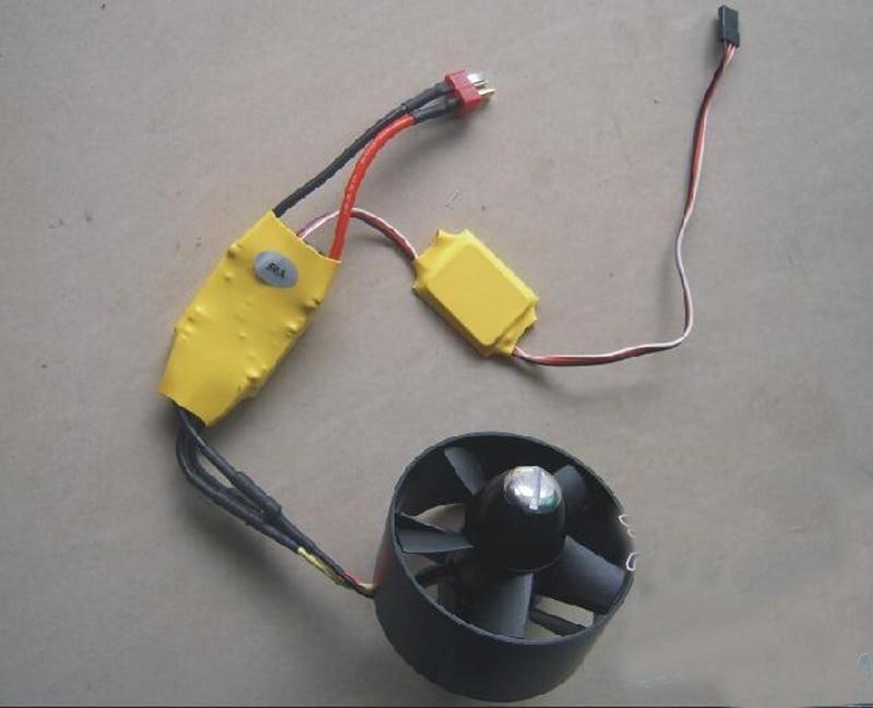EDF 70mm conduit ventilateur avec sans brosse 2850 moteur KV3500 + 50A sans brosse ESC BEC 4 s bricolage ensemble pour FPV RC modèle pièce T45 F16 F15 avion