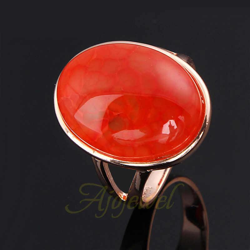Ajojeel ยี่ห้อขนาด 7 & 9 Anel Masculino สีเขียว/สีแดง/สีม่วงแหวนหินสำหรับผู้หญิง