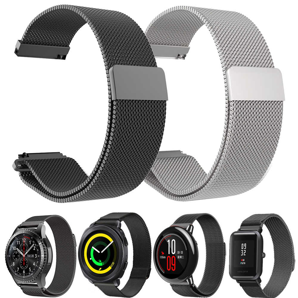 20mm 22mm Metal Milanese Loo Band for Samsung Galaxy Gear S3/Gear Sport Strap For Huami Amazfit Bip Amazfit 2 Smart Watchband