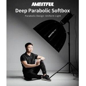 Image 5 - AMBITFUL Portable P90 90CM rapidement Installation rapide Softbox parabolique profonde avec grille en nid dabeille Bowens Flash Speedlite Softbox