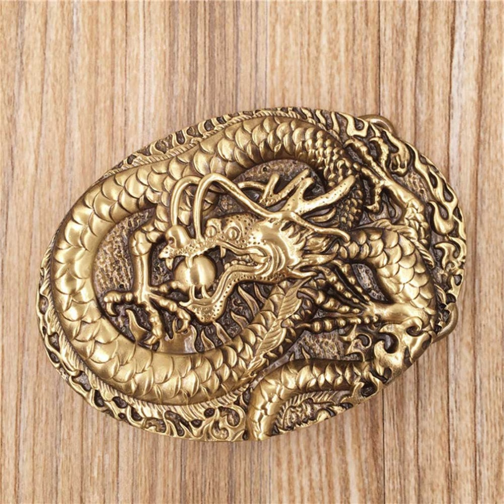 CUKUP New Design Animals Pattern Western Cowboy Belt Buckle Solid Copper Buckles Many Models Options Brass Metal for Men BRK037