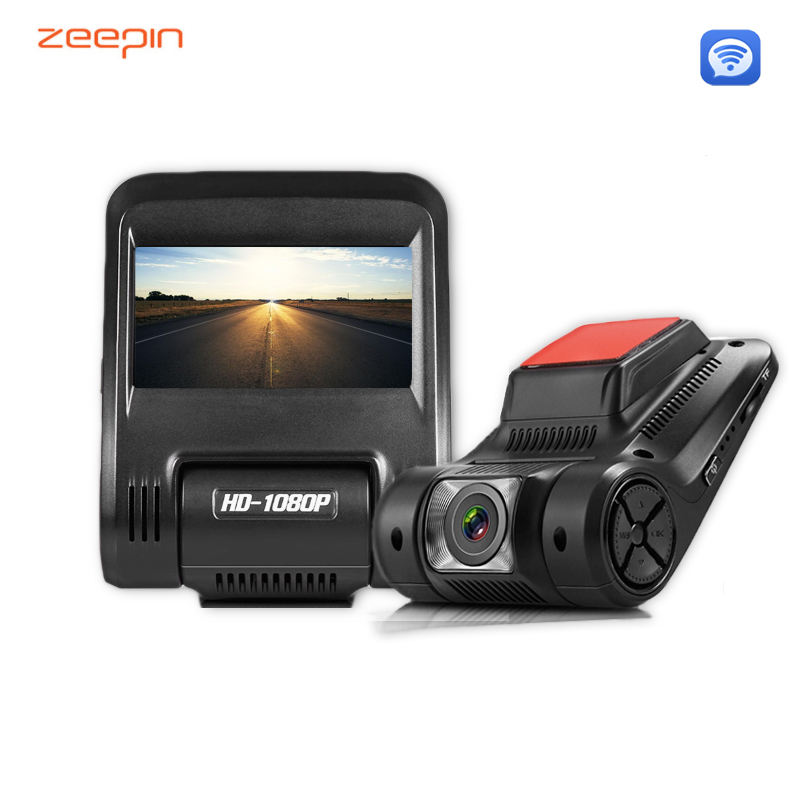 ZEEPIN D012 Car Hidden Dash Cam 2.45 Inch 1080P 170 Degree DVR Infrared Night Shoot WDR Wifi G-Sensor Driving Recorder Camera