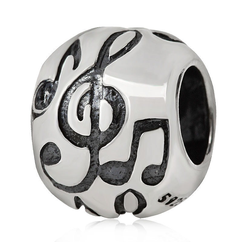 Music Note Charms Beads Original 100% Authentic 925 Sterling Silver Beads fits Pandora Charms bracelets & Necklaces