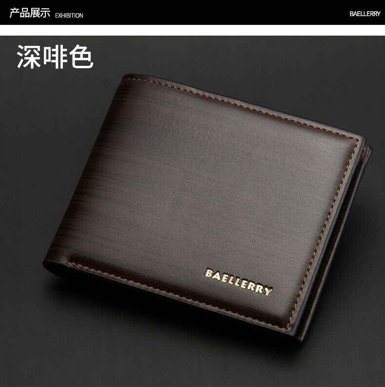 Новые мужские и женские маленькие кошельки, простой кожаный кошелек, сумка для писем, модная короткая сумка унисекс для монет, двойной складной тонкий клатч, держатель для карт, кошелек