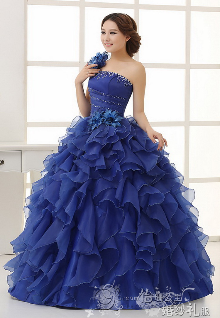 Dress asymmetrical picture more detailed picture about 2014 2014 colour princess wedding party gown 2014colorful ball gowncolored bridal dresses ombrellifo Image collections